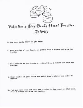 Valentine's Day Fraction Practice