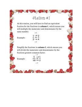 Valentine's Day Fraction Stations