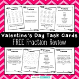 Free Valentine's Day Math - Fraction Task Cards for a Math Center or SCOOT