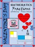 Valentine's Day - Math - Fractions Worksheets - Grade 4, G