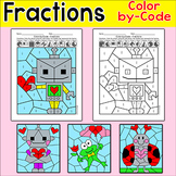 Valentine's Day Math Color by Fractions Activity: Robots,