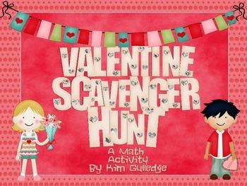 Valentine's Day Fractions Scavenger Hunt