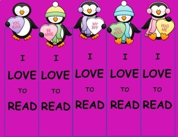Valentine's Day Free Bookmarks, Free February Activities