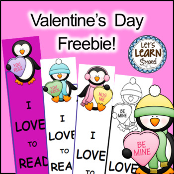Valentine's Day Bookmarks, Free February Activities