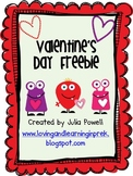 Valentine's Day Freebie- Roll and Graph
