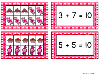 Valentine's Day Freebie - Sweet Number Sentences (making 10)