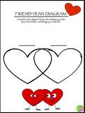 Valentines Day Friend Venn Diagram Activity