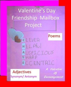 Valentine's Day Friendship Mailbox: Poems Synonyms Theme Stanza Adjectives