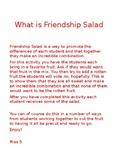 Valentines Day Friendship Salad Letter