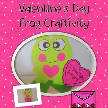 Valentine's Day Frog Stand-Up Craftivity