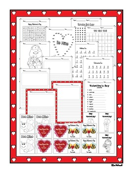 Valentine's Day Fun - 16 Printables - Math, Literacy, Games, Cards, etc.