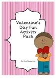 Valentine's Day Fun Activity Pack