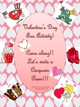 Valentine's Day Fun Activity: Writing a Cinquain!