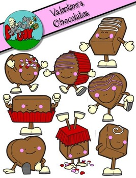 Valentine's Day Fun Chocolates Clipart