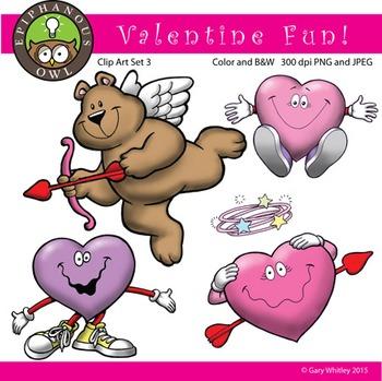 Valentine's Day Fun Clip Art Set 3