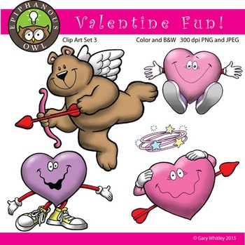 Valentine's Day Fun Clip Art Set 3