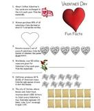 Valentine's Day Fun Facts Math practice sheet