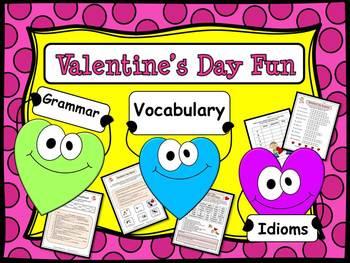 Valentine's Day Fun:  Grammar, Vocabulary & Idioms