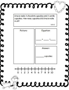 Valentine's Day Fun! Math and Literacy Activities  Mini Pack