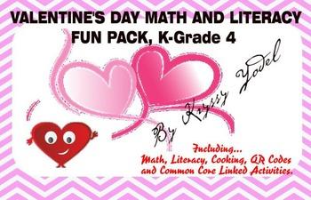 Valentine's Day Fun Pack, K - Grade 4