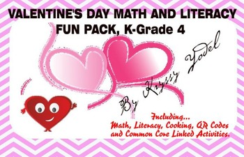 Valentine's Day Fun Pack, K - Grade 4