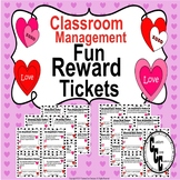 Valentines Day Fun Rewards Tickets (Classroom Management)