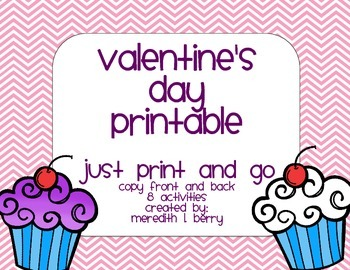 Valentine's Day Fun Sheet