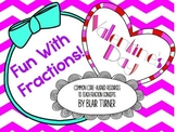 Valentine's Day Fun With Fractions BUNDLE - Common Core Aligned