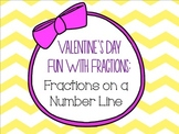 Valentine's Day Fun With Fractions on a NUMBER LINE
