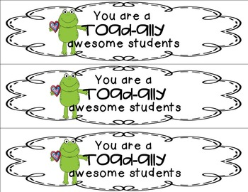 Valentine's Day Fun Toad-ally Cute Math, Literacy, Craft and more!