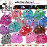 Valentine's Day Fuzzy Monster Clip Art