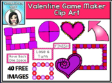 Valentine's Day Game Boards and Accessories Clip Art