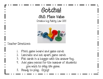 Valentine's Day Game--Place Value