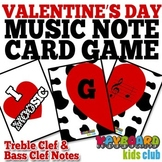 Valentine's Day Game for Practicing Treble Clef and Bass Clef Note Names