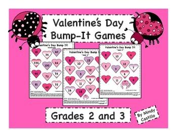 Valentine's Day Math- Bump It! Games