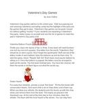 Valentine's Day Games