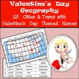 Latitude and Longitude Activity - Valentine's Day, USA