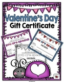Valentine's Day Certificate / Gift (Editable)