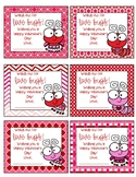 Valentine's Day Gift Tags (for parent helpers, office staff and/or colleagues)