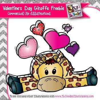 Valentine's Day Giraffe FREEBIE