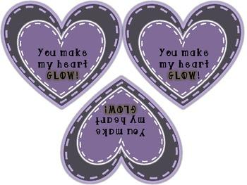 "Valentine's Day Glow Stick Signs - ""You make my heart GLOW!"""