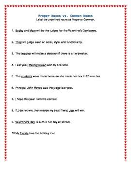 Valentine's Day Grammar: I Love Nouns!