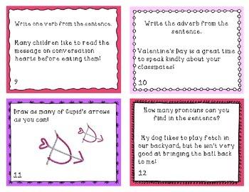 Valentine's Day Grammar Scoot Activity