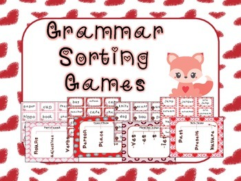 Valentines Day Grammar Sorting Games Bundle!