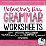 Valentine's Day Grammar Worksheets