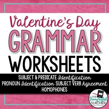 Valentine's Day Grammar Worksheets