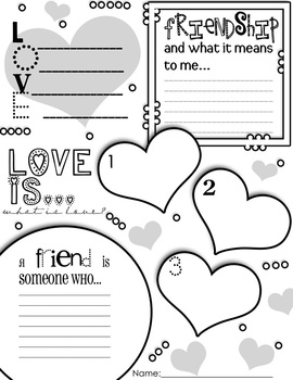 Valentine's Day Graphic Organizer Activity Poster Freebie