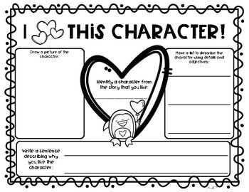Valentine's Day Graphic Organizer {Freebie}