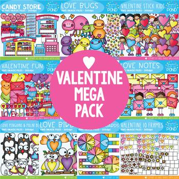 Valentine Clipart Mega Pack