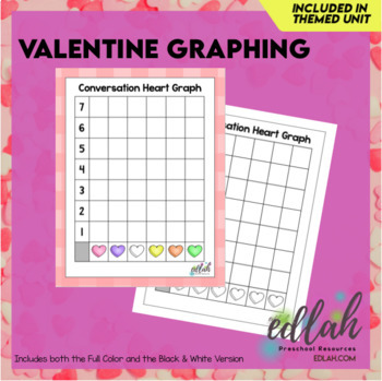 Valentine's Day Graphing - Full Color and Black & White
